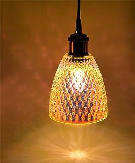 XODZASG Lámpara colgante de vidrio, Lámpara Colgante Vintage Iluminación colgante,Cocina comedor, E27 12W (Textura del ojos)