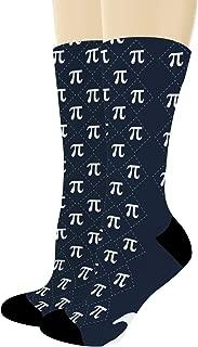 Math Gifts Symbol for Pi Socks STEM Gifts Nerdy Socks Student Teacher Gifts Math Novelty Crew Socks
