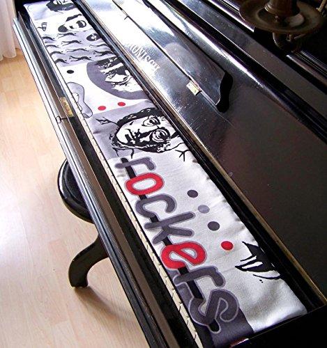 Tastenläufer für Klavier, Tastatur Rock'n Roll