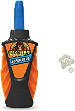 Gorilla 6770002 Micro Precise Super Glue, 5 gr, Clear with 10 Disposable Latex Finger Cots Rubber Fingertips
