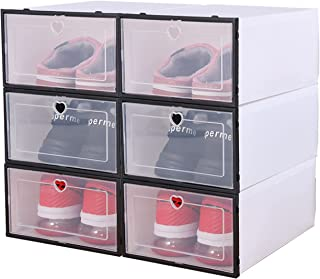 Transparent Storage Shoe Box - Arabest Flip Cover Dustproof Storage And Sorting Shoe Cabinet For Men And Women Shoe Boxe...