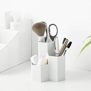 Cosmetische Organizer, Make-upborstelhouder Organisator, 3 Sleuven Cosmetica-borstels Opslag - Eyeliners Wenkbrauwpotloodv...