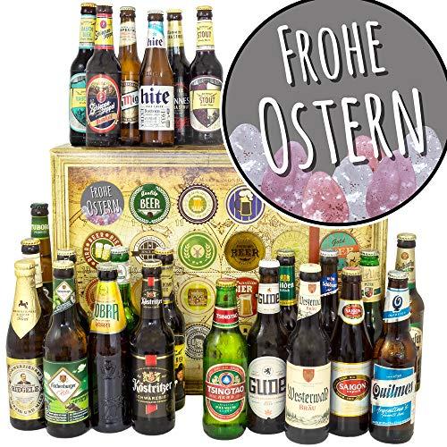 Frohe Ostern/Geschenke zu Ostern Männer / 24 Biere der Welt und DE/Bier Geschenk Adventskalender