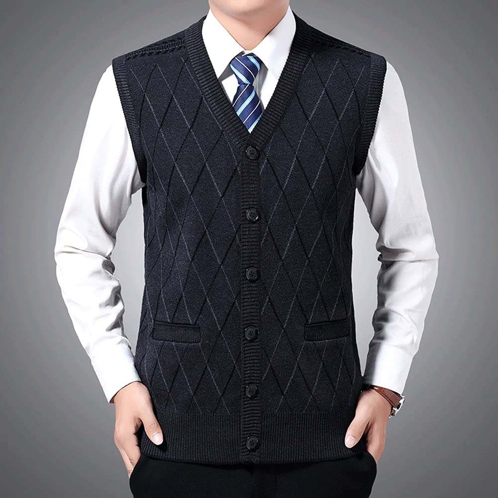 XJJZS Sweaters Men Pullovers Vest Sleeveless Cheap mail order sales San Jose Mall Fit Slim Kn Jumpers