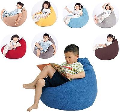 ビーズクッション SMM 中型のビーズクッションは児童用で、疲労を緩和する家庭用リクライニングチェア、EPP粒子充填と綿麻織物生地のソファベッド、8色、70cm X 80cm (Color : Brown-1)