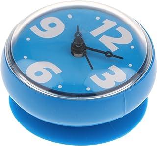 HOMYL Digital Clock Timer with Alarm, Waterproof for Bathroom Shower Kitchen, Sticker, Round - Blue, 75x35mm