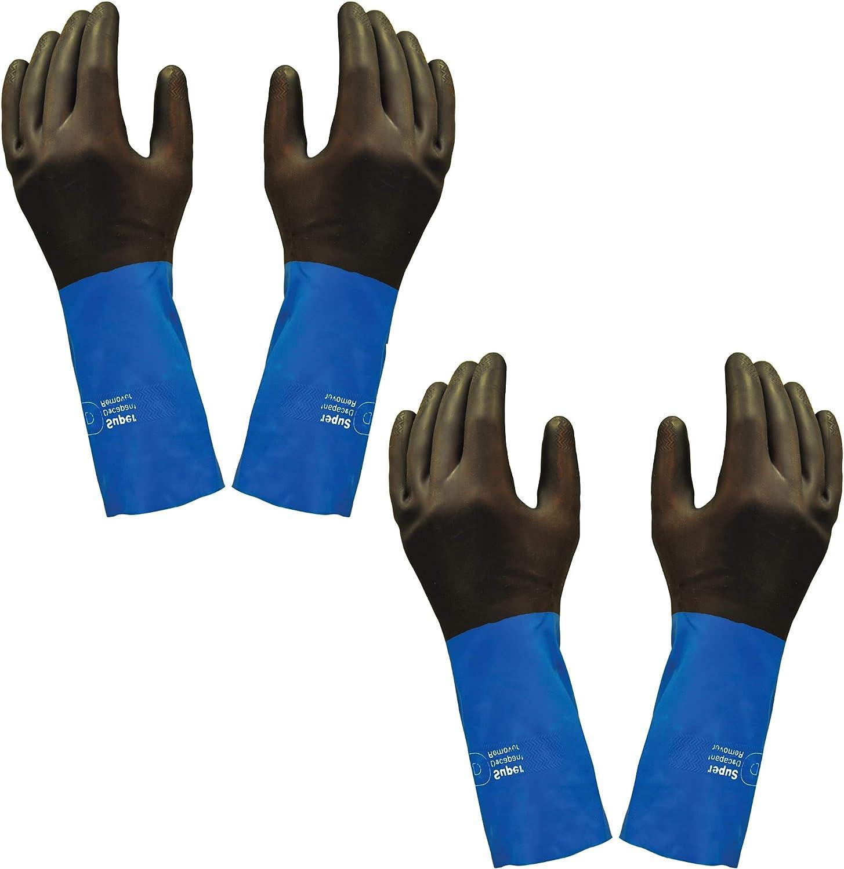 Neoprene Chemical NEW before selling Resistant Gloves Industrial Strength Genuine