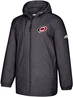 Carolina Hurricanes NHL Men's Team Logo Stitched Black Game Built Full Zip Heavyweight Jacket