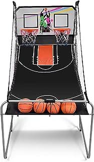 DREAMADE Macchina da Pallacanestro Elettronico,Gioco di Basket Arcade, Canestro da Basket Gioco Pieghevole, con Contatore ...