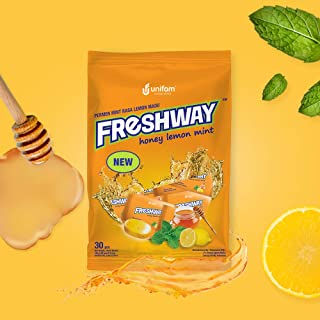 Freshway Candy, Healthy Antioxidant Candy with Vitamin C, Natural Honey Lemon Mint Flavor (30 Pieces)