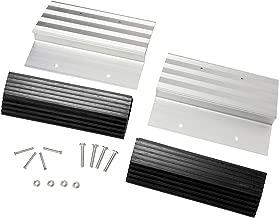 "BISupply | Aluminum Ramp Kit – 12"" Inch Truck Ramp Brackets and Rubber Feet, Tailgate Ramp Kit Ramp Plate Kit"