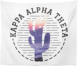 Kappa Alpha Theta Sorority Water Color Cactus Dorm Apartment Wall Tapestry 60 Inches x 80 Inches