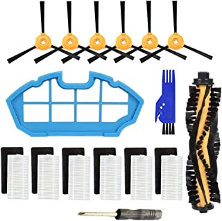 Parts for Ecovacs DEEBOT N79 N79S DN622 Robotic Vacuum Cleaner - Main Brush,Filter,Side Brush Accessory Kit