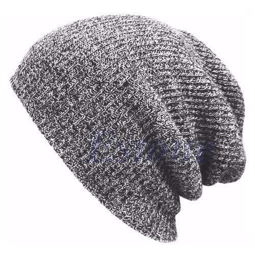 Hip Hop Strickmütze Damen Winter Warm Casual Acryl Slouchy Hut Häkeln Ski Beanie Hut Weibchen Soft Baggy Skullies Beanies Männer-Light Gray