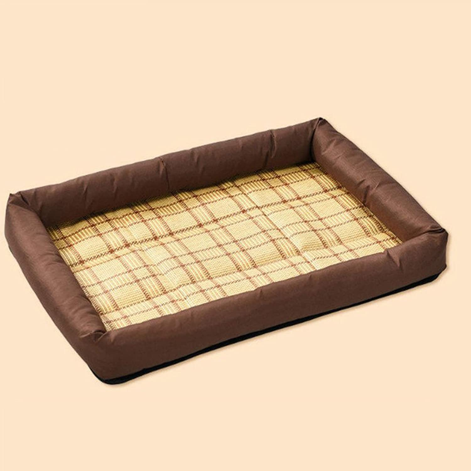BiuTeFang Pet Bolster Dog Bed Comfort Mat Pet Mat Kennel Breathable Cooling