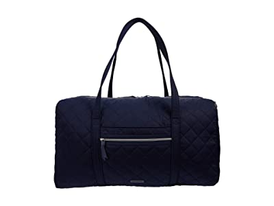 Vera Bradley Performance Twill Lay Flat Travel Duffel (Classic Navy) Carry on Luggage