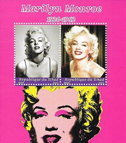 Sammelbare Briefmarken - Marilyn Monroe von Andy Warhol MNH Commemorative Kleinbogen/Tschad / 2015