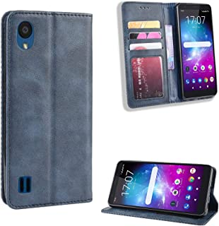 Compatible with ZTE Blade A5 2019 Wallet Case, Full Protection PU Leather Flip Case with Card Solt Compatible with ZTE Blade A5 2019 (Blue)