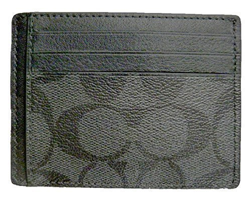 Coach Card Case ID Signature PC Charcoal Black F75027CQBK