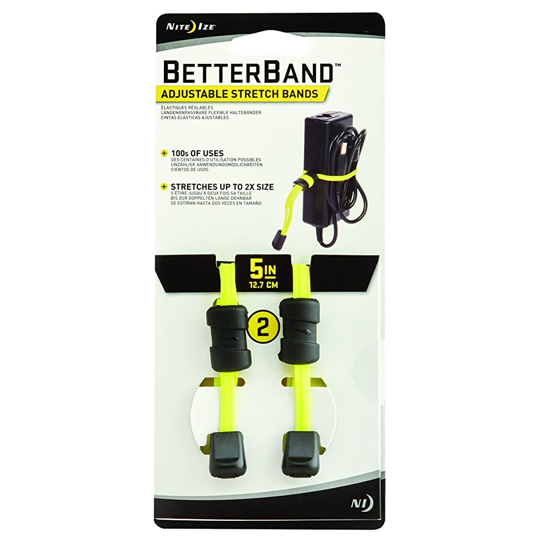 Nite Ize BetterBand, Adjustable Stretch Band with Cord Lock, 5-Inch, Neon Yellow