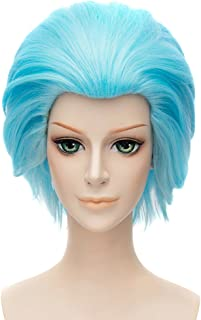 The Seven Deadly Sins Cosplay Costume Wig Short Ainme Party Ice Blue Hair