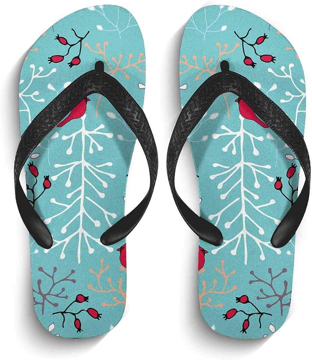 InterestPrint Non-Slip Flip Flops Black Straps Thanksgiving Turkey Summer Beach Thong Sandal for Men