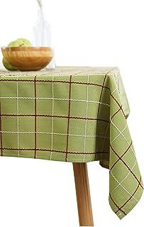 مولاكس هوم الداما بياضات طاولة المطبخ 53 × 78 بوصة، مفرش طاولة قطني مستطيل قماش مقاوم للماء مفرش طاولة للترفيه المنزلي