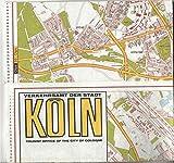 KOLN, MAP, tourist office of the city of Cologne, Verkehrsamt der Stadt (masstab 1/20 000)