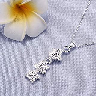European and American Jewelry Silver Jewelry Necklace (Color : Blue) Girls Necklace (Color : White)