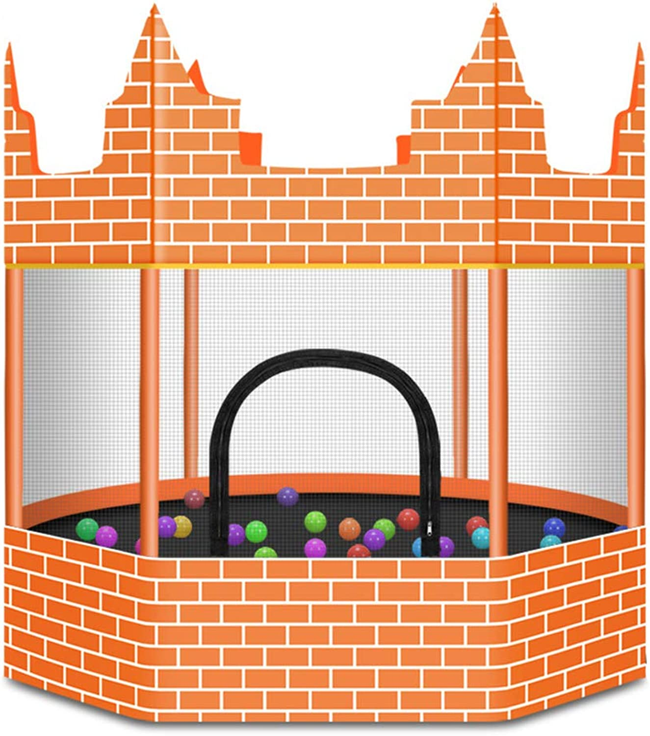 Castle Trampoline Gym with Safety Enclosure Indoor or Outdoor Trampoline for Kids