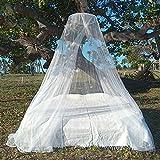 HAWK Outdoors Reise Moskitonetz mit Aufhängungs-Set Mückenkopfschutz - 240 MESH Travel Mückennetz Baldachin Form - Tropen Mückenschutz Bettnetz