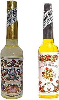 PACK DE DOS (2) BOTELLAS DE Agua de Florida 1 La Original Peru Amarilla 270 ml y otra de Kananga de 221 ml.