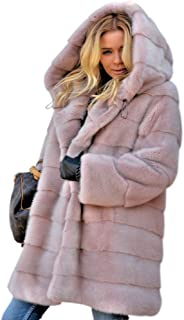Aofur New Womens Thick Faux Fur Big Hooded Parka Long Overcat Peacoat Winter Coats Jackets