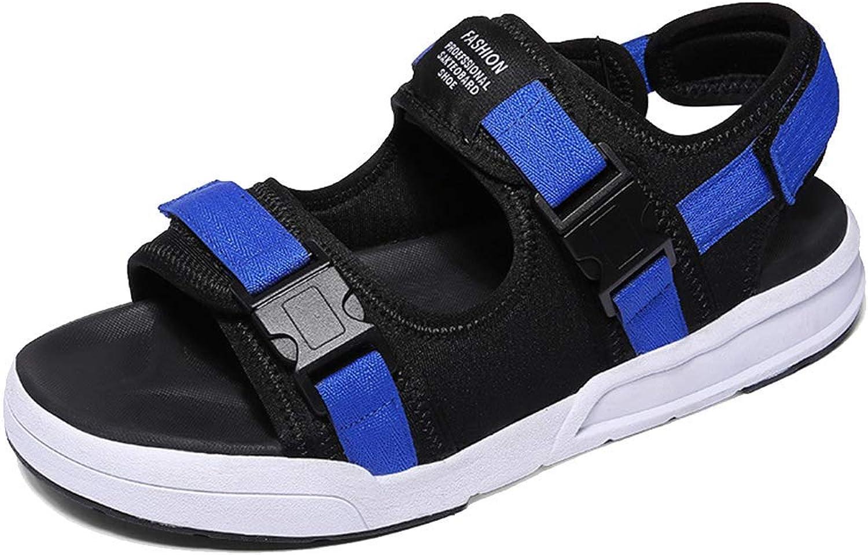L-X Mens Sandals Walking Digital Breathable Summer Outdoor Skid Sports Leisure Beach shoes, bluee, 46 EU