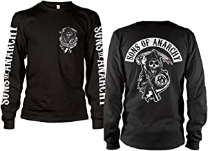 Sons of Anarchy Officially Licensed Merchandise SOA Backpatch Long Sleeve T-Shirt (Black)