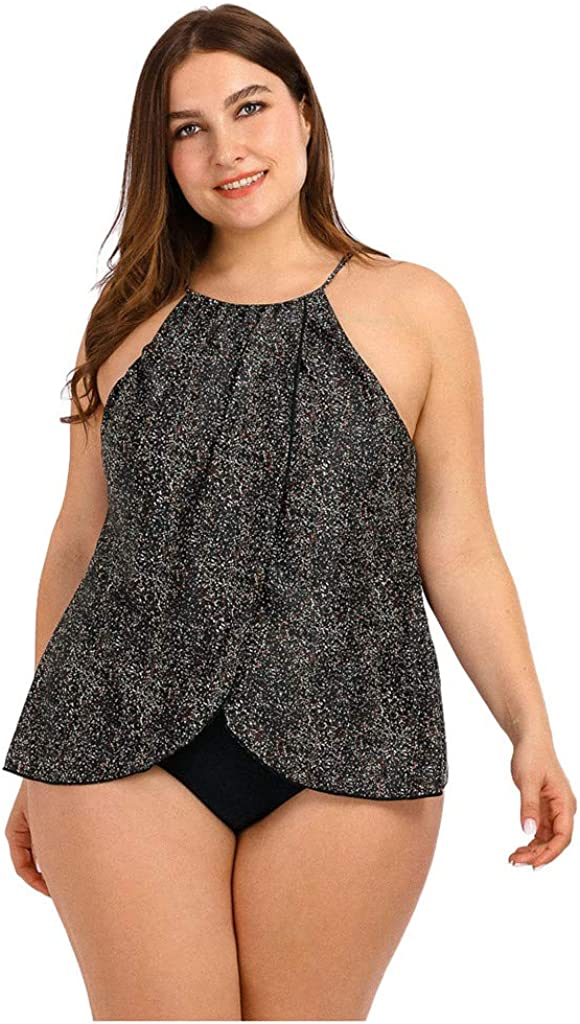 PMUYBHF Plus Size Swimsuits Bathing Suit Swimsuit for Women,Tankinis Swimwear