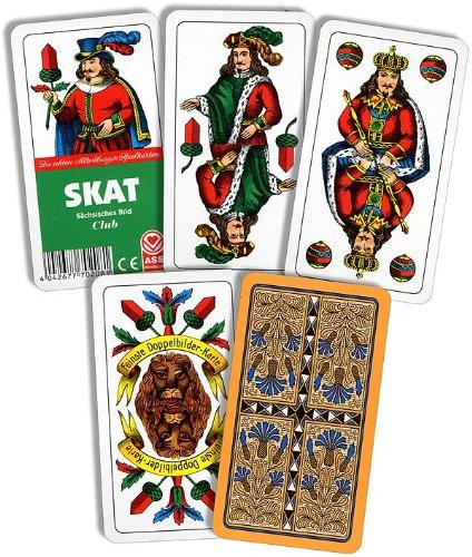 Kartenspiele, Skat, Sächsisches Bild der Ass Altenburger Spielkartenfabrik