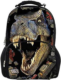 Mochilas Niños Dinosaurio Mochila Escolar Bolso Creativo Grande con Estampado de Dinosaurio en 3D Bolsa de Ocio al Aire Libre Multifuncional