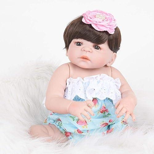 Hongge Reborn Baby Doll,Lebensechte Reborn Baby Puppe mädchen Silikon Puppe Spielzeug Geschenk 5cm