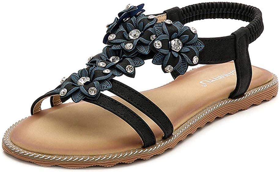 Vacation Must Haves Wedge Sandals Womens Summer Platform Peep Toe Roman Flip Flop Bohemian Beach Flat Sandals Toe Beach Clip Non-Slip Sandalswhite (Color : Black, Size : 35 M EU)