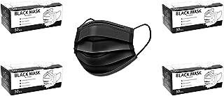 Raganet, 200 Cubrebocas Tricapa Termosellado Color Negro Calidad Premium (200 Piezas)