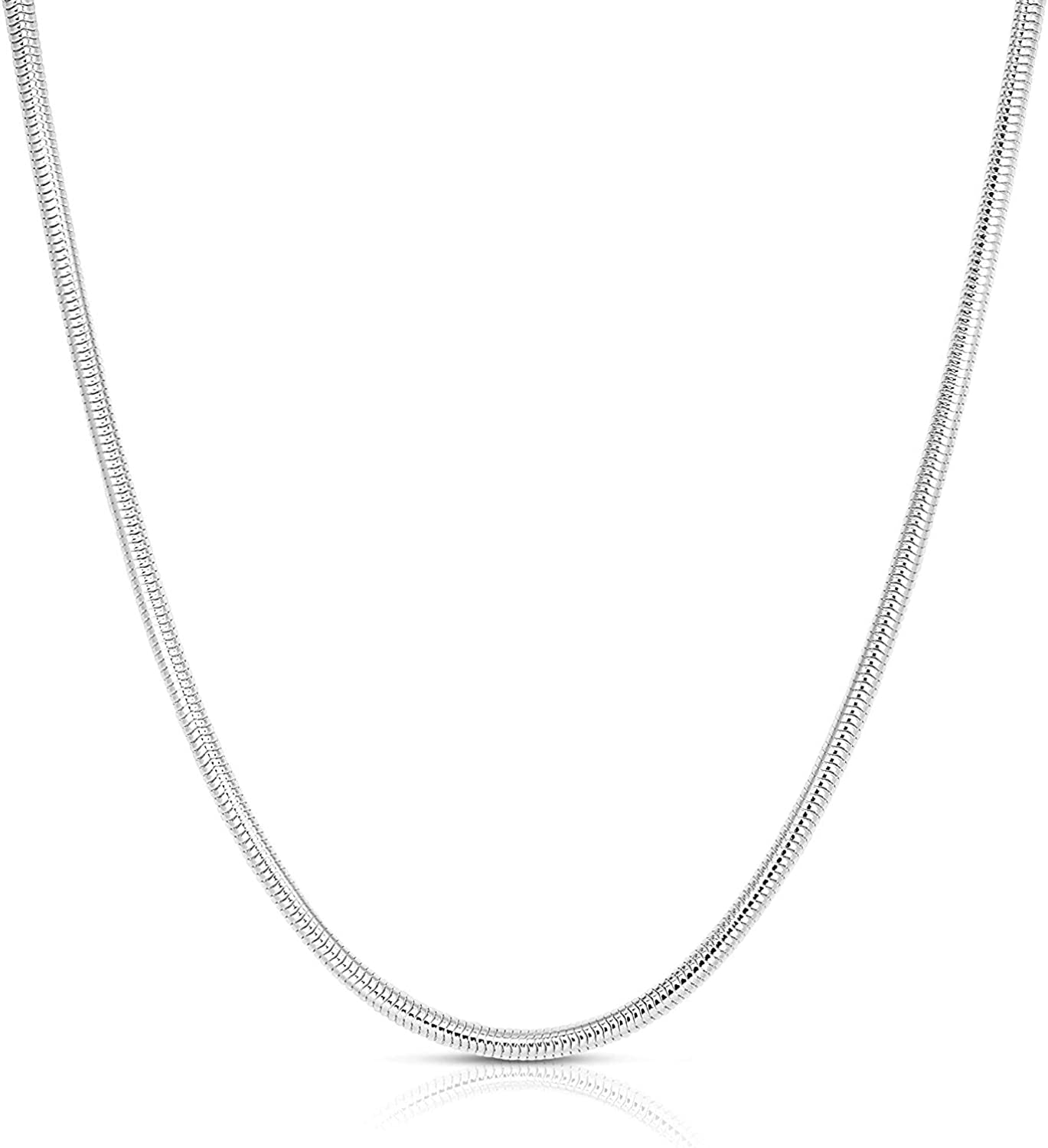 Sterling Silver Snake 全品最安値に挑戦 Chain Flexible 専門店 Necklace -