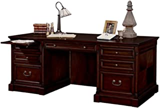 Martin Furniture Mount View Double Pedestal Executive Desk - Fully Assembled