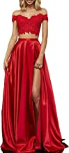 Best satin prom dresses with slits Reviews