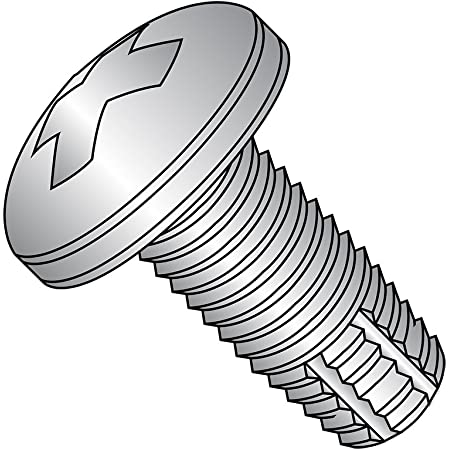 Zinc Plated Finish Steel Thread Cutting Screw Pan Head 1//2 Length Phillips Drive Type F Pack of 100 #10-32 Thread Size