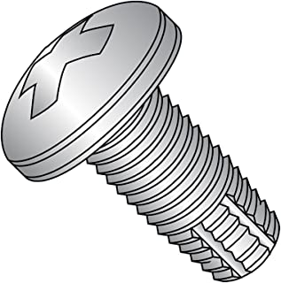 Steel Thread Rolling Screw for Metal Pan Head Zinc Plated Pack of 100 #4-40 Thread Size Phillips Drive 1//4 Length