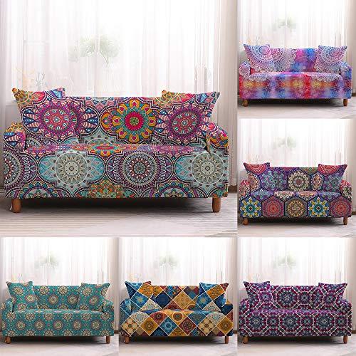 lizeyu Funda para el Cabello Funda para sofá patrón Mandala Funda para sofá Toalla para Sala de Estar Muebles protección sillón sofá