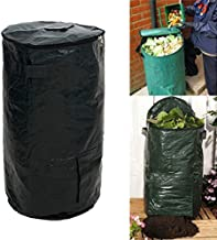 ajzdnzvr 1Pc Collapsible Trash Can-Garden Bags- Zipper Design PE Compost Bags for Garbage Outdoors, 2 Sizes Optional Size 17.7 x 31.5inch