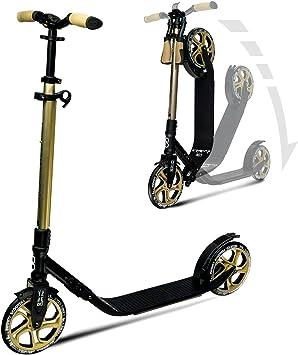 Infinity Scooters Patinete de Ruedas Grandes para Adultos y Niños a Partir de 8 años - Patinete Plegable de Ruedas PU ABEC-7 con Manillar Ajustable en ...