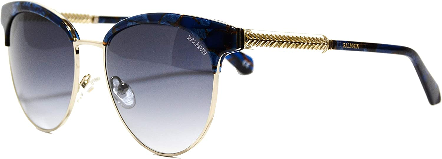 Balmain sunglasses (BL2519 03) Marble bluee  gold  Grey Gradient lenses